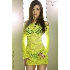 Netzkleid gelb